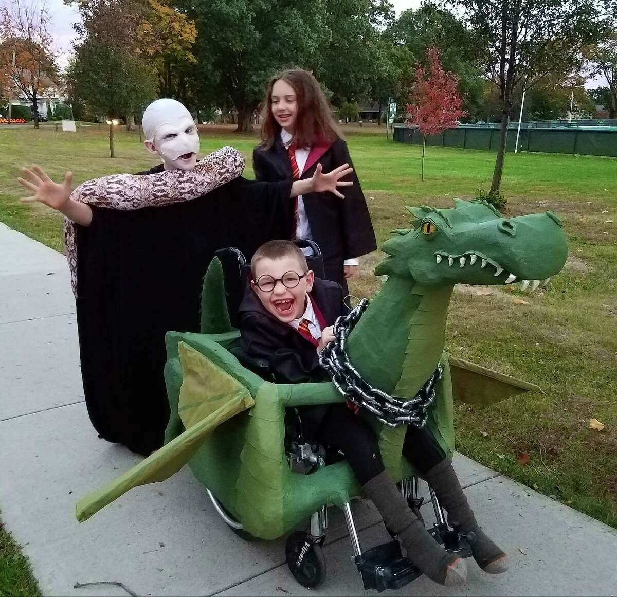The Harry Potter-mobile made it easier for Sam Buck to get around Glenville for Halloween.