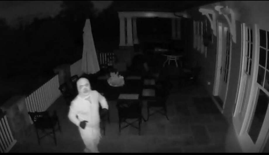 Still photos from an alleged residential burglary that occurred on Wednesday Oct. 1, 2019 in Westport. Westport Police are asking for the public's help in identifying the suspects. Photo: Contributed Photo
