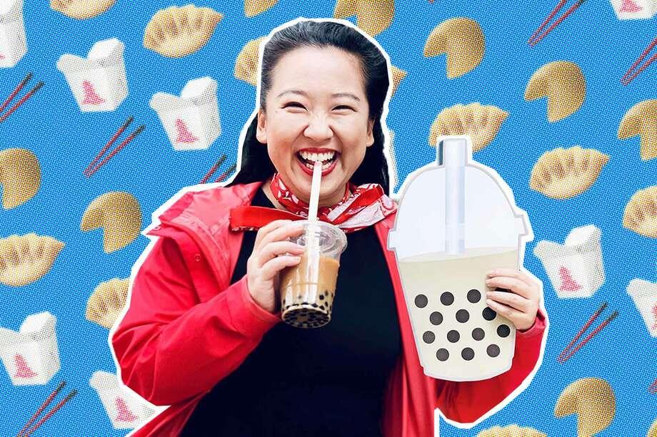 Yiying Lu, San Francisco based artist, who designed the Boba, the Dumpling Photo: Photo Illustration: Blair Heagerty / SFGate