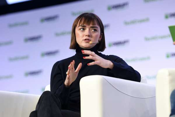 SAN FRANCISCO, CALIFORNIA - OCTOBER 03: Actor Maisie Williams speaks onstage during TechCrunch Disrupt San Francisco 2019 at Moscone Convention Center on October 03, 2019 in San Francisco, California. (Photo by Steve Jennings/Getty Images for TechCrunch)