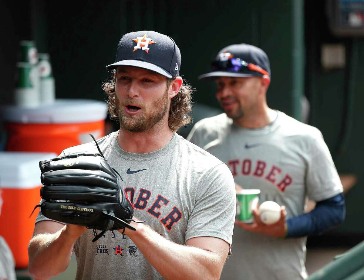 Gerrit Cole got the start for the Astros in Game 2 vs. the Rays.