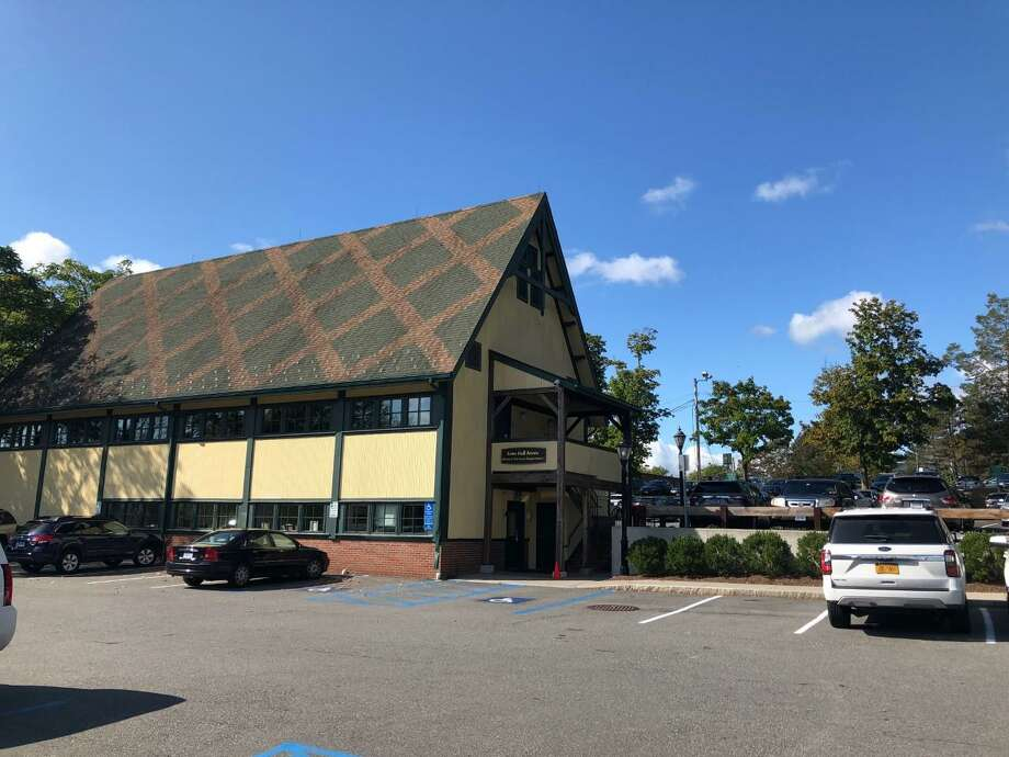 Pictured is the former Outback Building, and The Hub, which is now the New Canaan Human Services Building. Contributed photo Photo: Contributed Photo