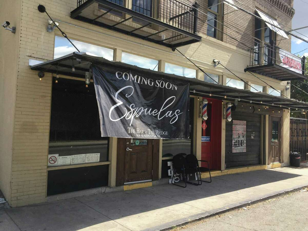 Espuelas A new bar is opening at the west end of the Hays Street Bridge, Staff Writer Chuck Blount reports. Little is known about the establishment, Espuelas.
