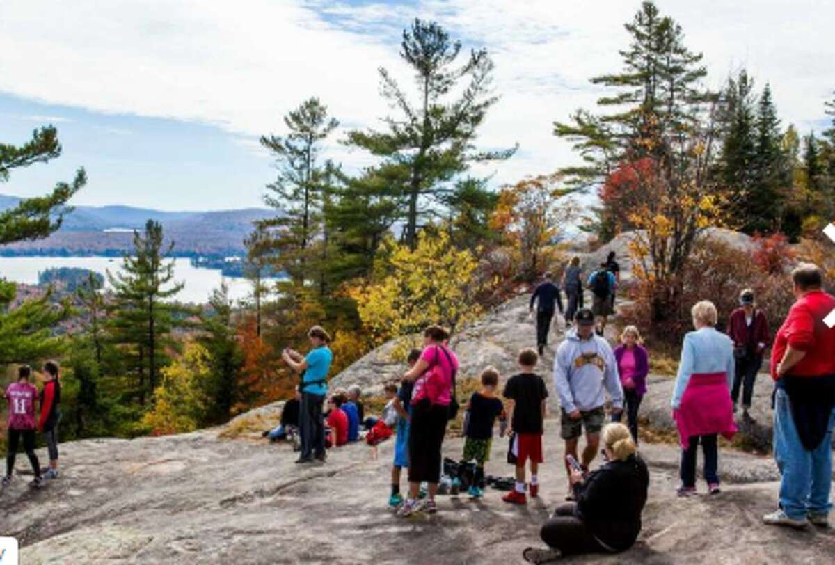 View from Bald Mountain hike trail on Oct. 11, 2015, near Old Forge, N.Y.