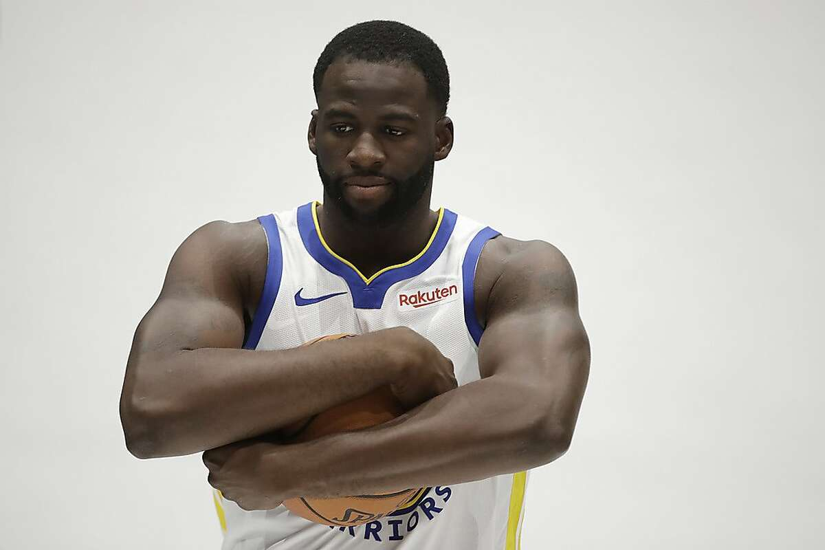 Golden State Warriors' Draymond Green during the NBA basketball team's media day in San Francisco Monday, Sept. 30, 2019. (AP Photo/Ben Margot)