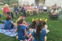 Marion Elio, a resident at Crosby Commons, recently had a dream come true when she was surprised with a special camp out.