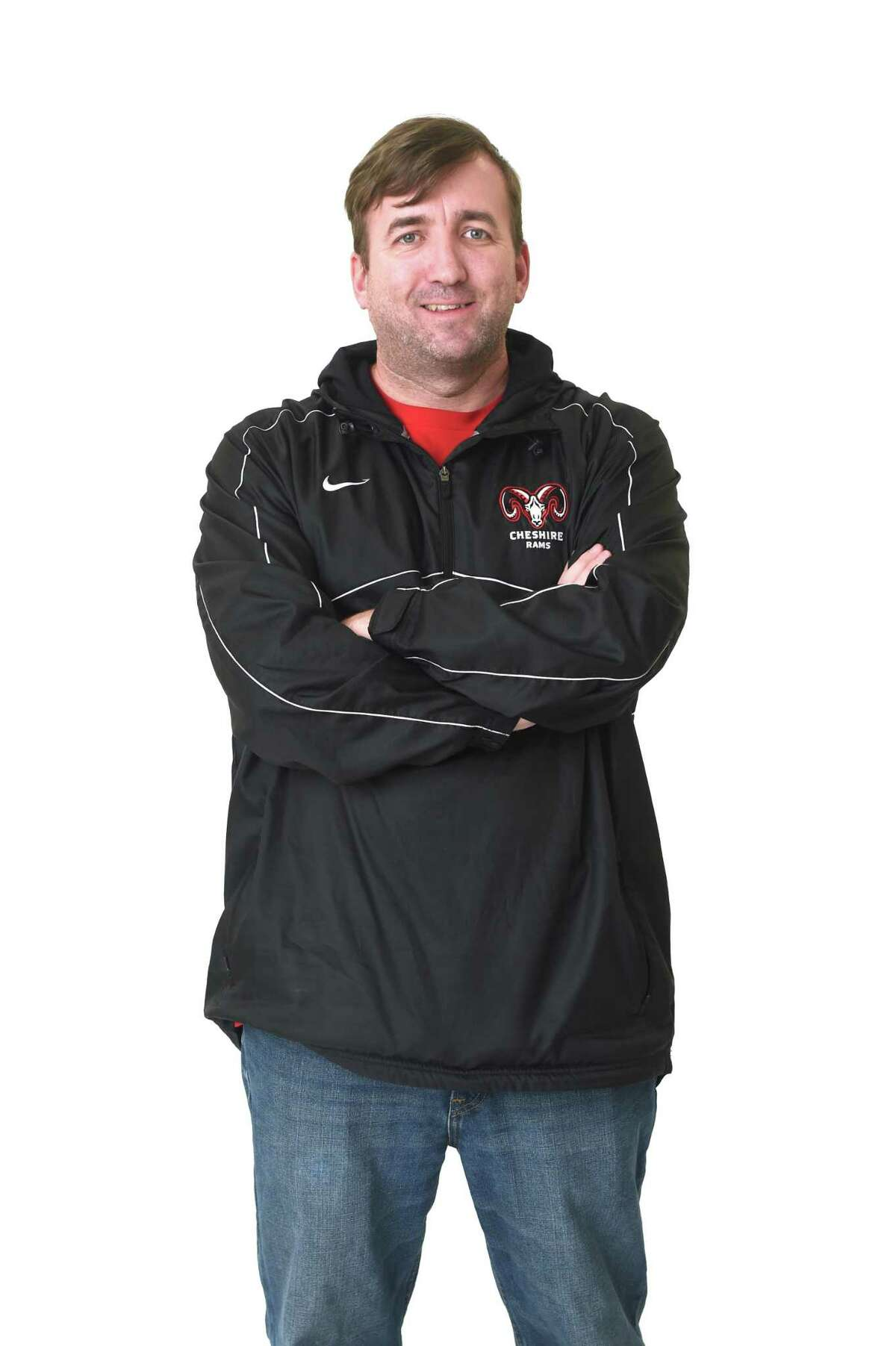 Cheshire boys swimming coach Kevin Reeder.
