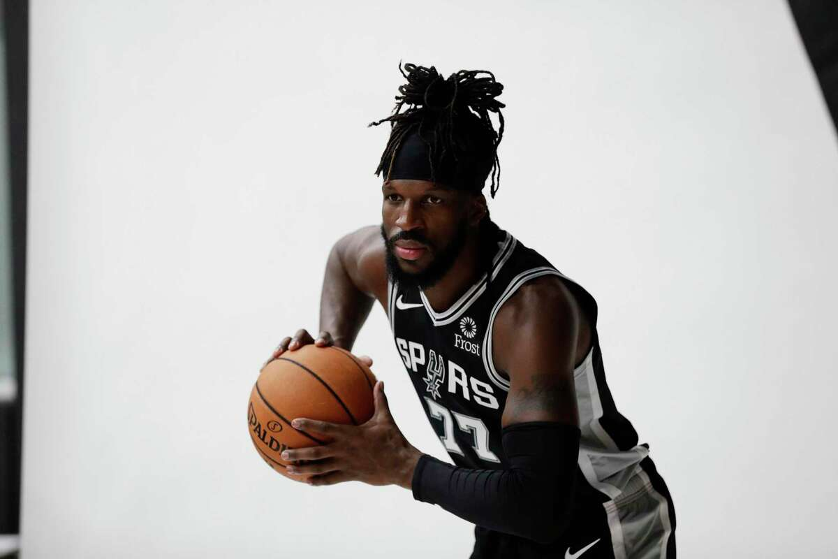 San Antonio Spurs' Demarre Carroll during a NBA basketball media day Monday, Sept. 30, 2019, in San Antonio. (AP Photo/Eric Gay)