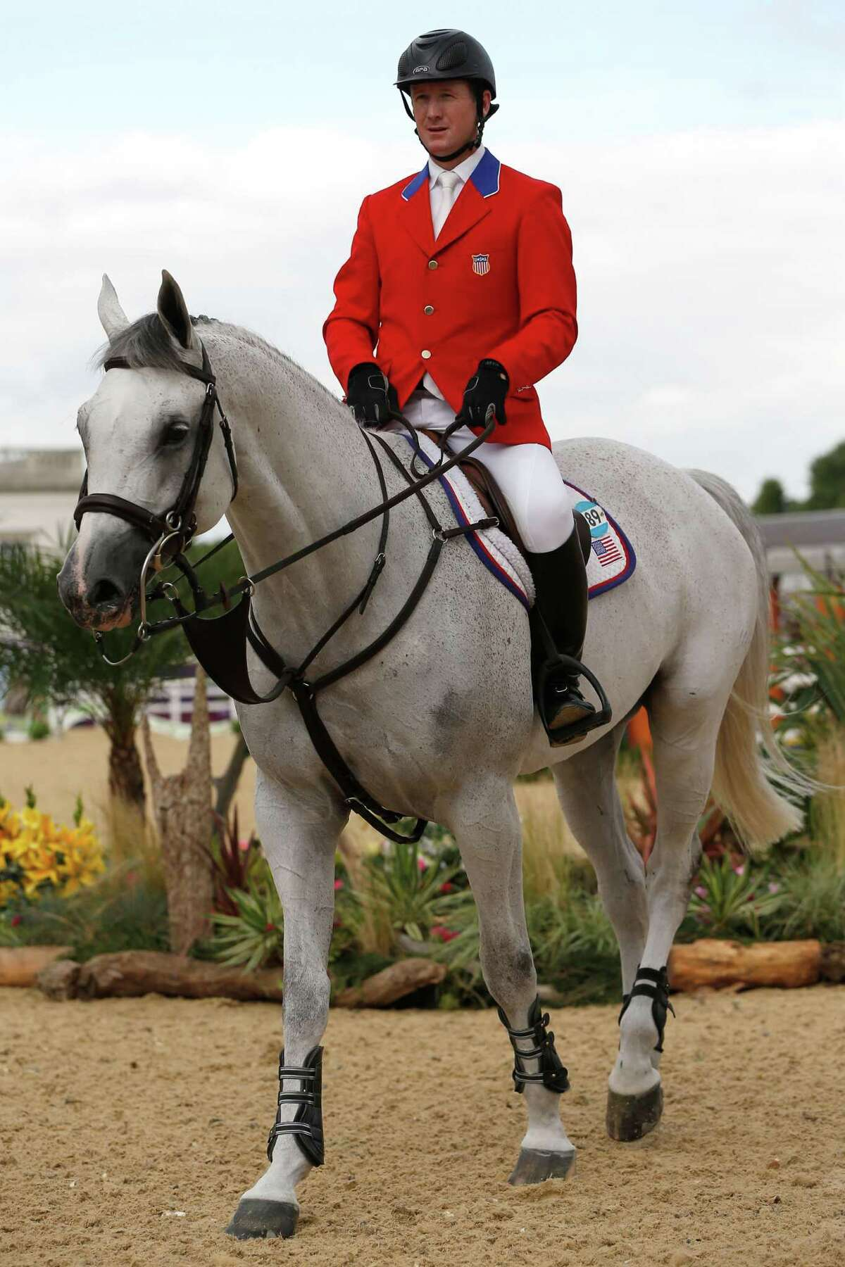 LONDON, ENGLAND - AUG. 08: McLain Ward of the United States Riding Antares competes in the Individual Jumping Equestrian on Day 12 of the London 2012 Olympic Games at Greenwich Park on Aug 8, 2012, in London, England. Ward will be participating in a live question and answer interview series at the New Canaan Mounted Troop this Tuesday, Oct. 8, 2019 in New Canaan, Connecticut. (Photo by Jamie Squire/Getty Images)