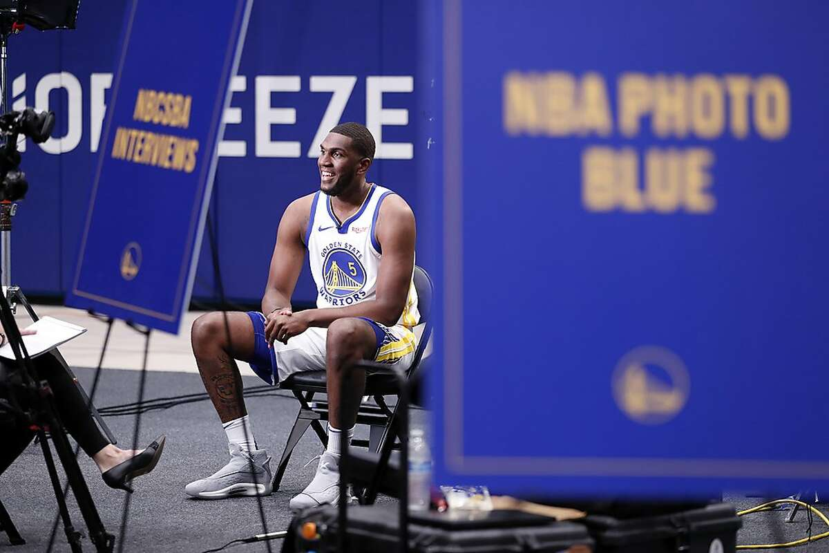 Golden State Warriors' Kevon Looney during media day at Chase Center in San Francisco, Calif., on Monday, September 30, 2019.