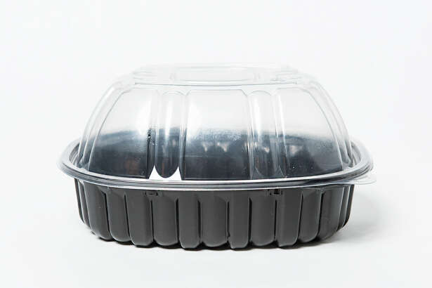 Plastic containers like these are tricky, as most recology centers won't recycle the white plastic.