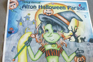 Alton High School student Kelsea Douglas has been named this year's winner of the East End Improvement Association's annual Alton Halloween Parade poster contest.