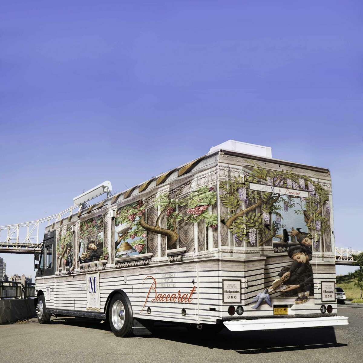 New York-based patisserie Lady M Cake Boutique and French crystal manufacturer Baccarat have teamed up to launch a luxury cake truck that hits the road in October, with Houston scheduled as its first stop, according to a Friday release.