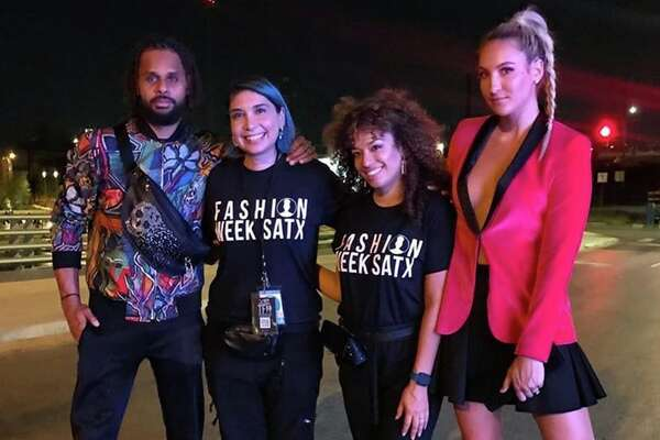 Mills and new wife Alyssa were in attendance at Celebrate San Antonio, the third event in the local fashion week schedule. The pair posed for a photo with Fashion Week SATX Founder Burgundy Woods and Jeanelly Concepcion during the San Pedro Creek Culture Park event.