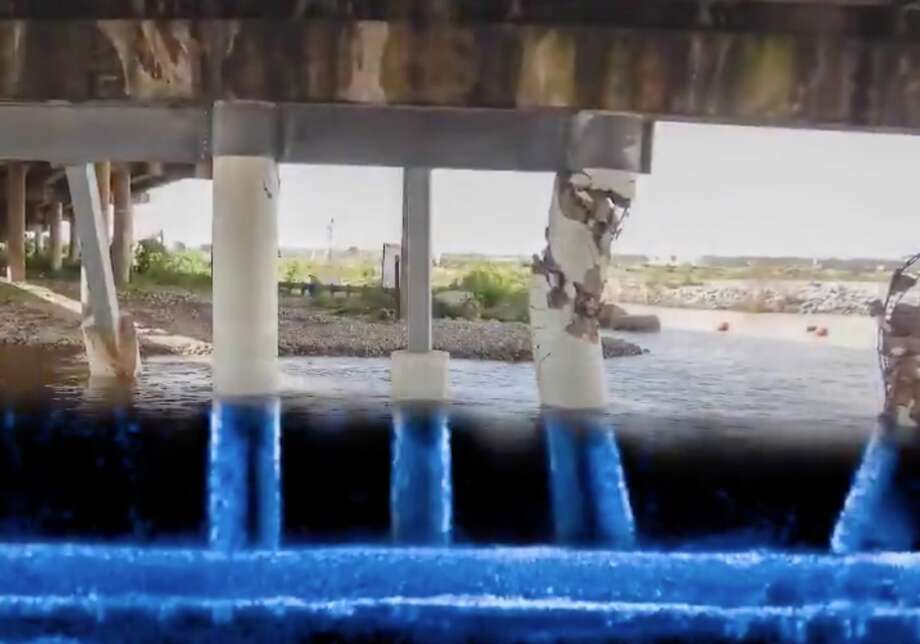 New video released by the Texas Department of Transportation on Friday, Oct. 4, 2019, shows the extent of the damage to the Interstate 10 East bridge over the San Jacinto River. Photo: Texas Department Of Public Safety