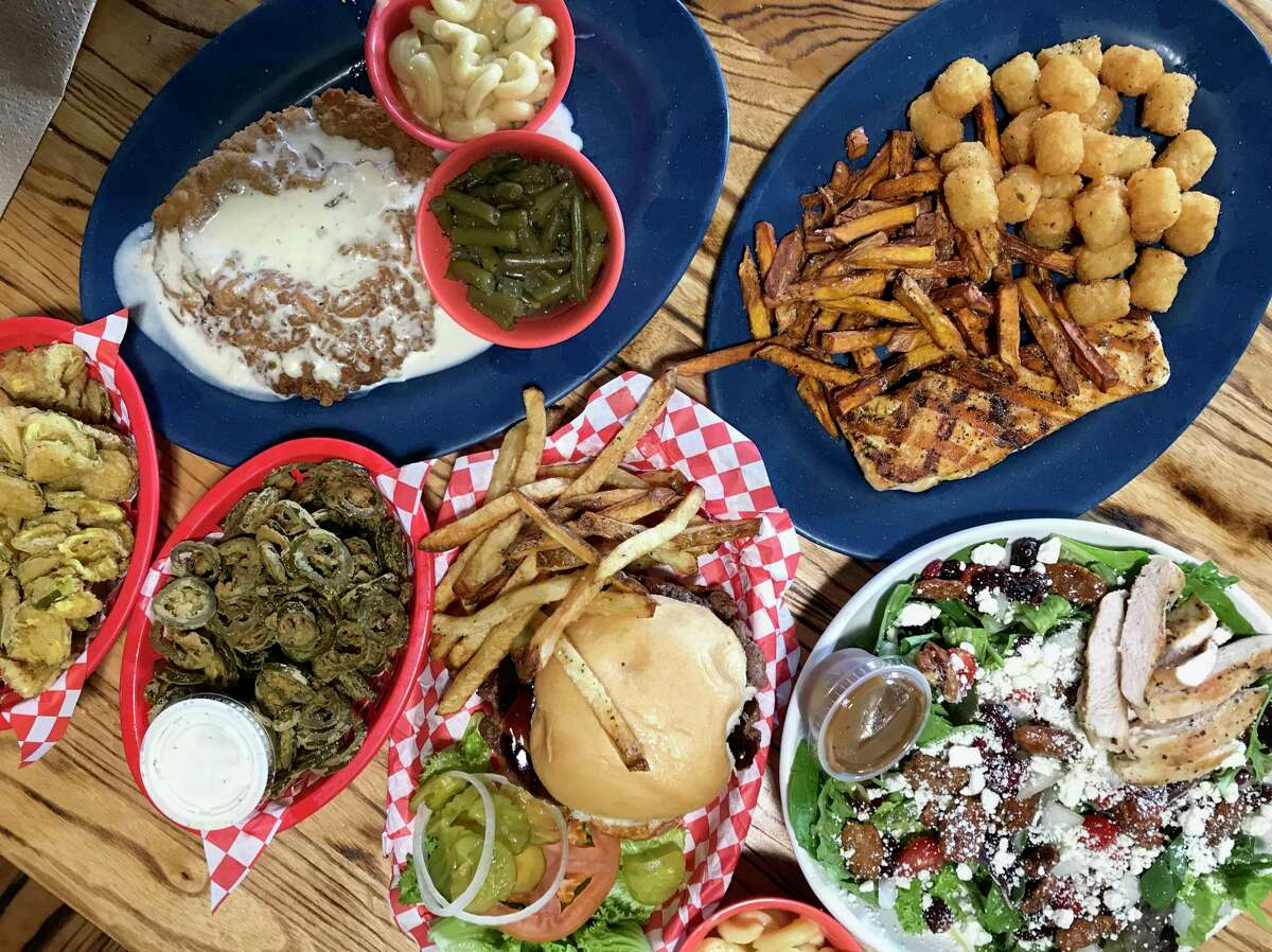 A selection of dishes from Dog & Pony Grill in Boerne