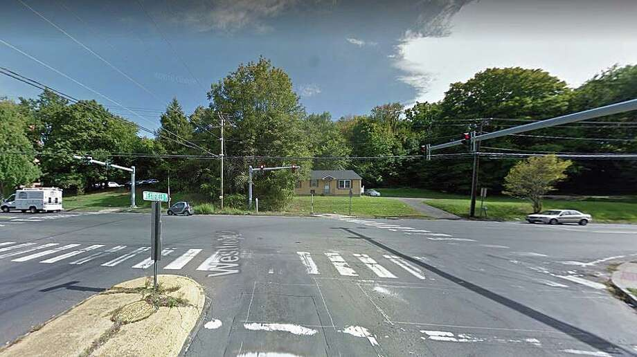 A 50-year-old man who was walking in this crosswalk at Newfield and Westfield street in Middletown, was struck by a hit and run driver on Thursday, Oct. 3, 2019. Police said a dirt bike struck the man in the crosswalk sending him flying 15 feet. The pedestrian suffered a broken leg as well as other bumps and bruises from being hit by the dirt bike. The drives of the dirt bike did not stop and fled the area. Photo: Google Street View