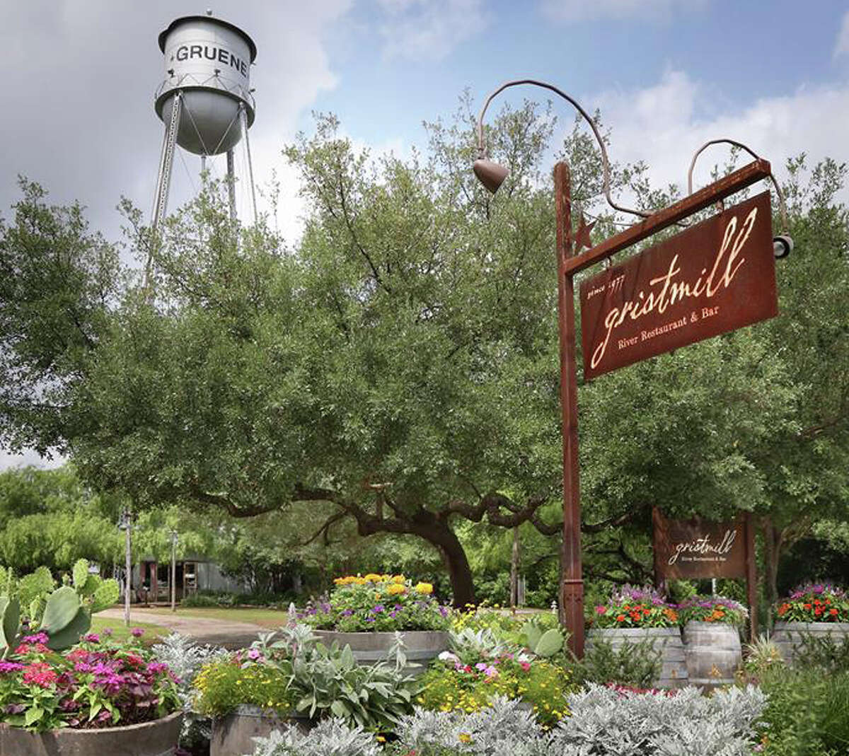 The Gristmill River Restaurant and Bar 1287 Gruene Rd New Braunfels, Texas 78130 (830) 625-0684 Sunday to Thursday from 11 a.m. to 9 p.m. Friday to Saturday from 11 a.m. to 10 a.m.