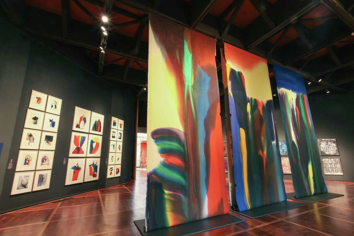 """One of the works in """"Painting for Performance"""" at the McNay Art Museum is a backdrop created by Paul Jenkins for the Paris Opera staging of """"Shaman to the Prism Seen."""""""