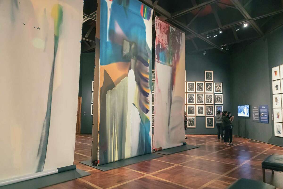 """Those who go see """"Painting for Performance"""" at the McNay Art Museum will get to see both sides of Paul Jenkin's backdrop for the 1987 Paris Opera production of """"Shaman to the Prism Seen."""""""