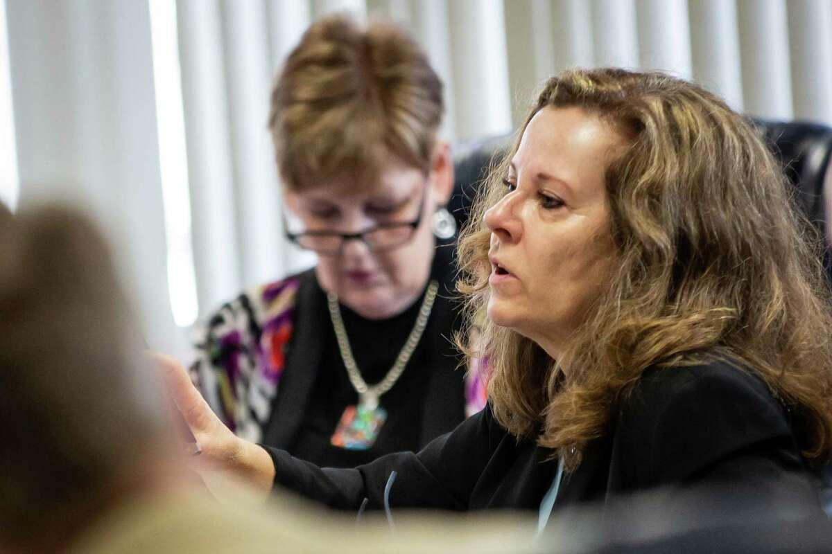 Committee member Donna Bahorich speaks during the Committee on School Finance/Permanent School Fund meeting on Thursday, April 4, 2019, at the William B. Travis Building in Austin, Texas. (Michael Minasi/For the Houston Chronicle)