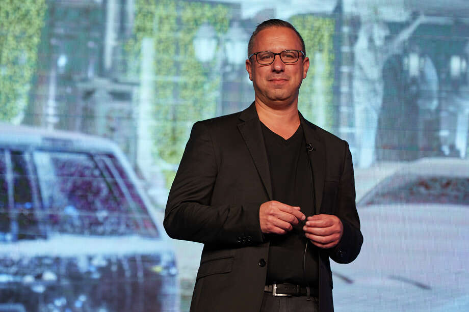 Ariel Cohen, cofounder and CEO at TripActions.com, greets the audience at the company's recent Traverse 19 event in San Francisco, which drew a crowd of more than 900 attendees Photo: TripActions / ©2019 New Revolution Media