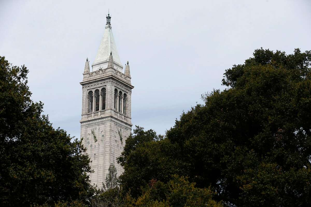 Sather Tower at UC Berkeley on Saturday, March 31, 2018.