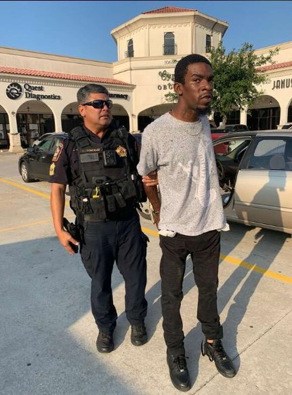 Justin Archangel, 22, was taken in by police yesterday afternoon on the 10600 block of Jones Rd. He is the fourth of four suspects allegedly involved in the Cypress case, according to a Pct. 5 Facebook post.