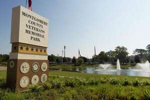 The Montgomery County Veterans Memorial Commission announced the completion of Phase 1B, Victory Row, for the Montgomery County Veterans Memorial Park. Victory Row is composed of 13 flags recognizing the six U.S military branches of service. US Army, US Marine Corps, US navy, US Air Force, US Coast Guard, and the US Merchant Marines. Also included are the American Flag, POW Flag, Texas Flag, Montgomery County Flag, City of Conroe Flag, MCVMC Flag and the Visitors Mast for schools, military units, classes, and organizations visiting the Memorial.