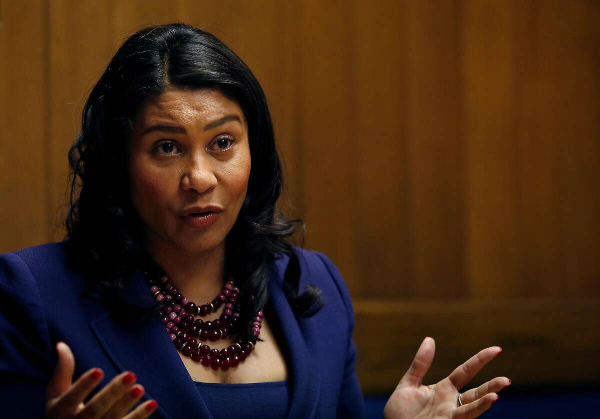 Mayor London Breed speaks to the Chronicle editorial board on Wednesday, October 2, 2019 in San Francisco, CA.