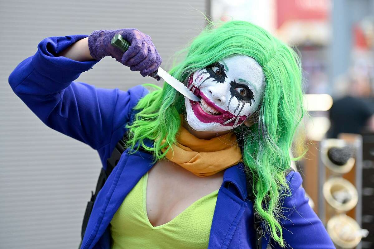 Some of the Best examples of cosplay at New York Comic Con: A cosplayer dressed as The Joker attends New York Comic Con 2019 - Day 2 at Jacobs Javits Center in New York City.