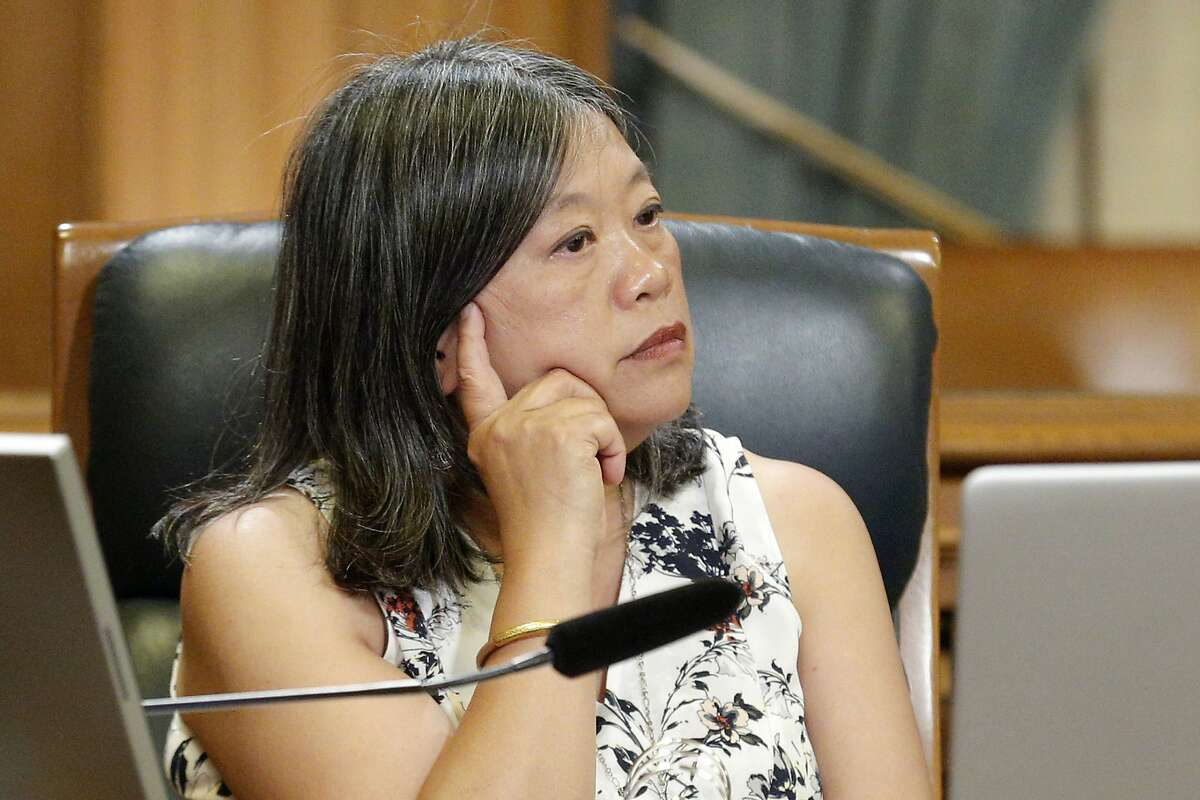 Supervisor Sandra Lee Fewer during a board meeting on Tuesday, June 4, 2019, in San Francisco, Calif. The Board of Supervisors voted to shut down juvenile hall by the end of 2021.