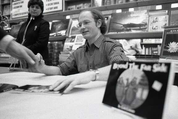 Cartoonist Gary Larson at a book signing, September 30, 1983