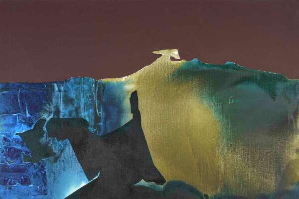 """""""Illuminated Earth"""" is the title piece of McClain Gallery's show of paintings by Dorothy Hood, on view Oct. 12-Dec. 21."""
