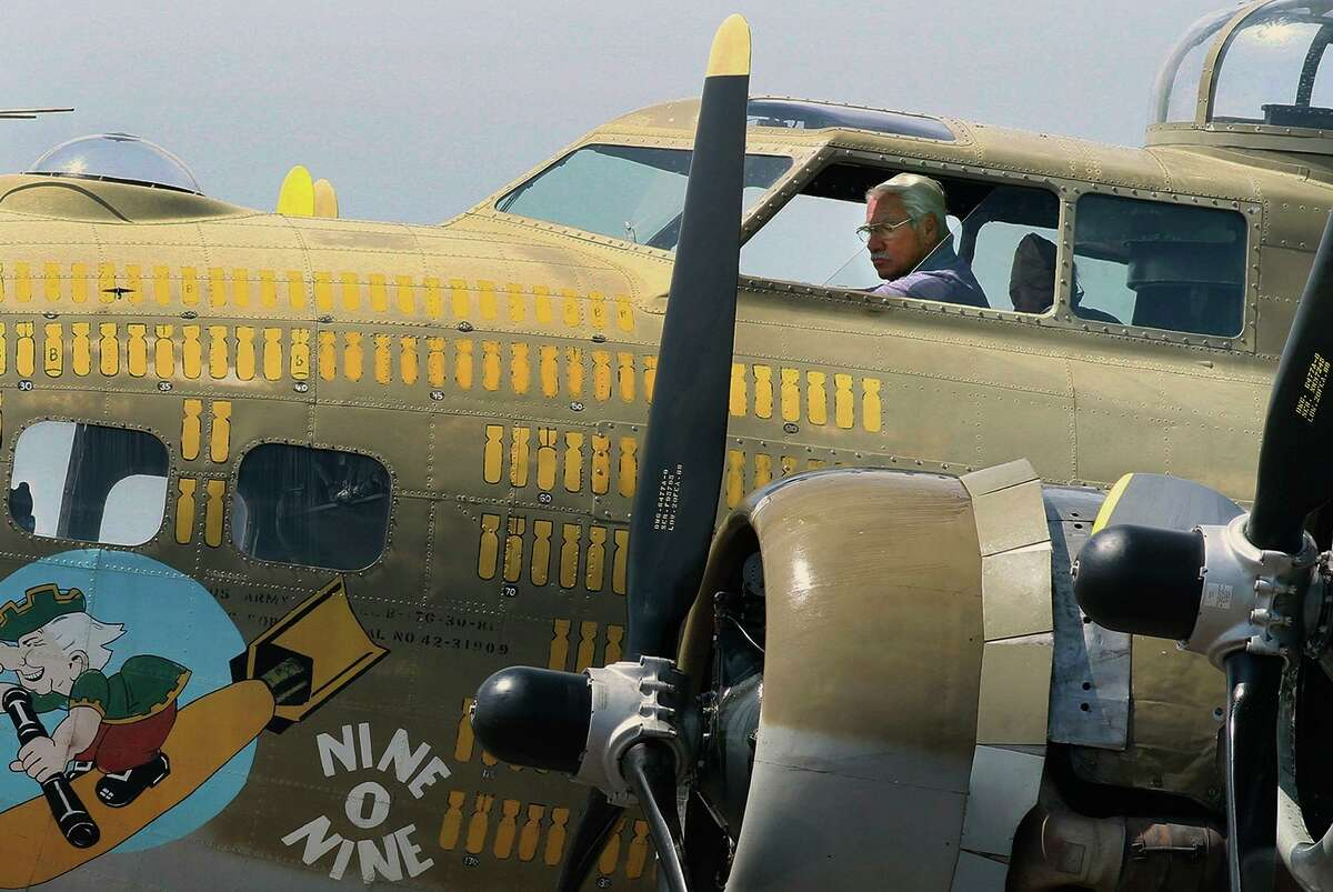 FILE - In this Aug. 19, 2019 file photo, B-17 pilot, Ernest