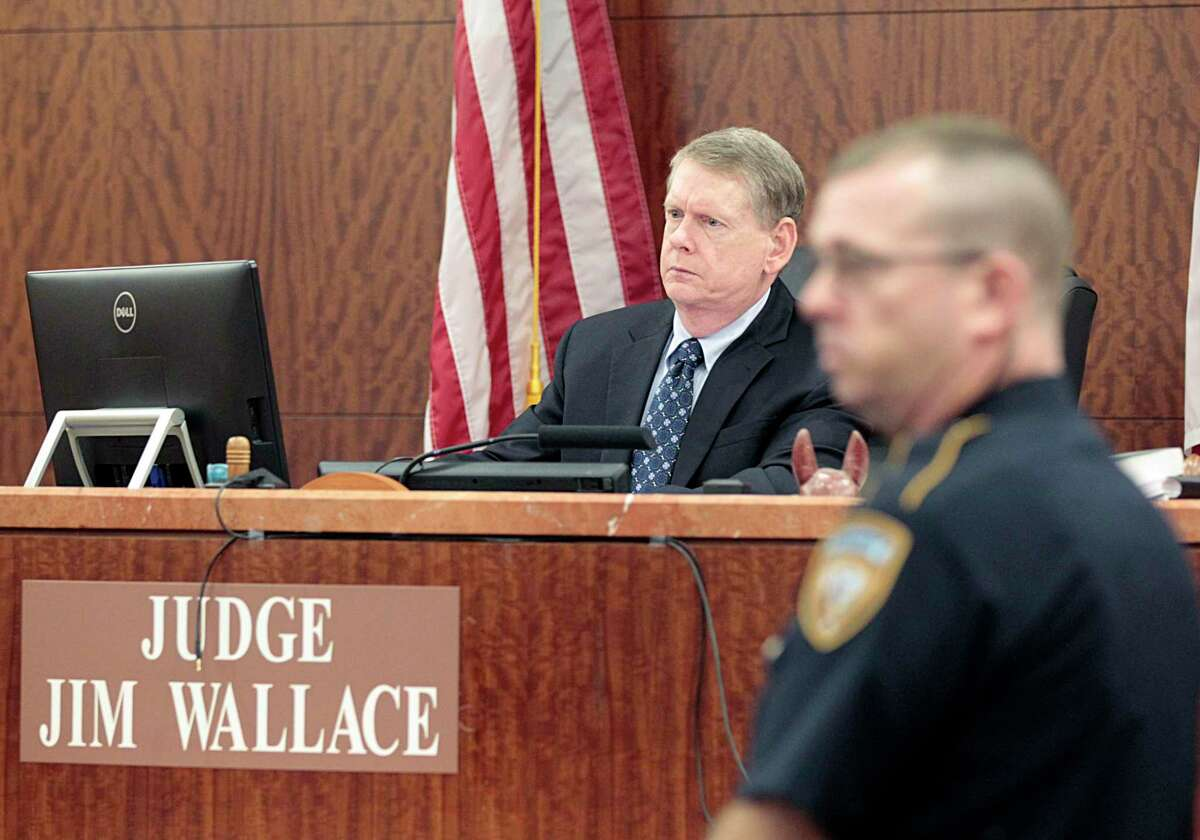 From 1994 to 2018, Judge Jim Wallace left, presided over a felony bench in Harris County.