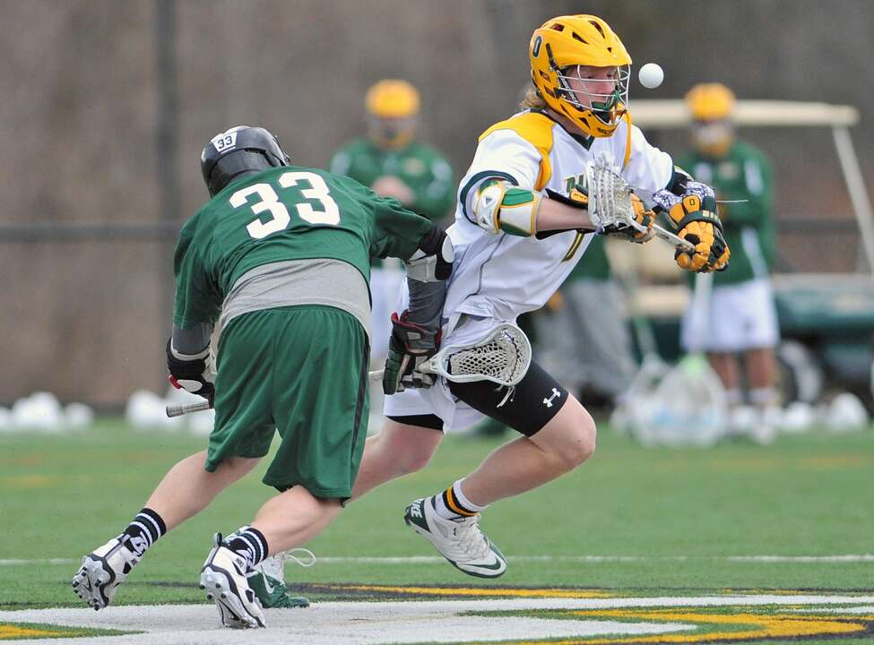 Zach Triner played one season of lacrosse at Siena before transferring to Mount Assumption to resume his football career. He is playing this season with the NFL's Tampa Bay Buccaneers. (Courtesy of Siena College Athletics)