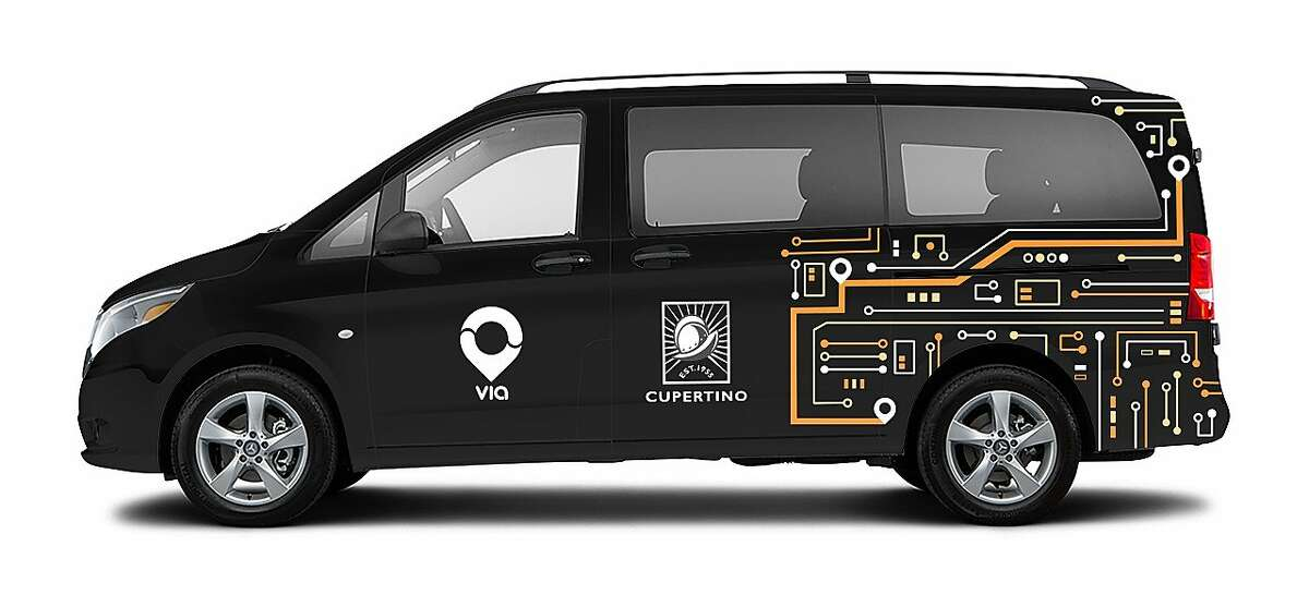 The on-demand transit company Via will begin operating in Cupertino, including on the Apple campus.