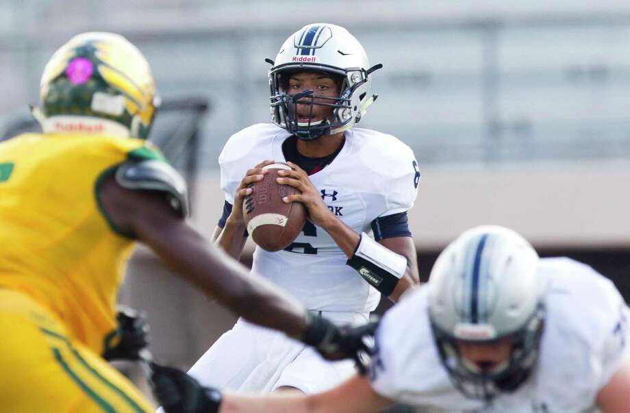 College Park quarterback Ty Buckmon (6) looks to pass during the second quarter of a District 15-6A high school football game at Klein Memorial Stadium, Friday, Oct. 4, 2019, in Spring. Photo: Jason Fochtman, Houston Chronicle / Staff Photographer / Houston Chronicle