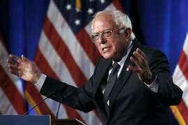 """FILE - In this July 17, 2019 file photo, Democratic presidential candidate, Sen. Bernie Sanders, I-Vt., speaks about his """"Medicare for All"""" proposal at George Washington University in Washington. Sanders had a heart attack, his campaign confirmed Friday, Oct. 4, as the Vermont senator was released from a Nevada hospital. Sanders' campaign released a statement from the 78-year-old's Las Vegas doctors that said the senator was stable when he arrived Tuesday at Desert Springs Hospital Medical Center."""