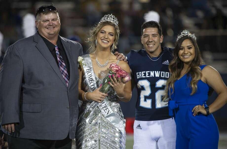 Greenwood's Karlie Savage is crowned 2019 homecoming queen 10/04/19 at J.M. King Memorial Stadium. Tim Fischer/Reporter-Telegram Photo: Tim Fischer/Midland Reporter-Telegram