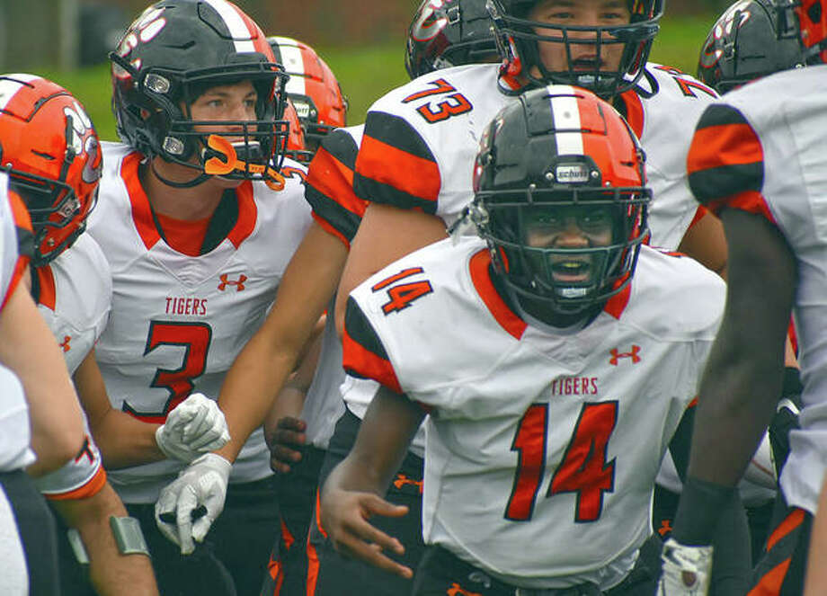 In this file photo, Edwardsville prepares to take the field in a game earlier this season.