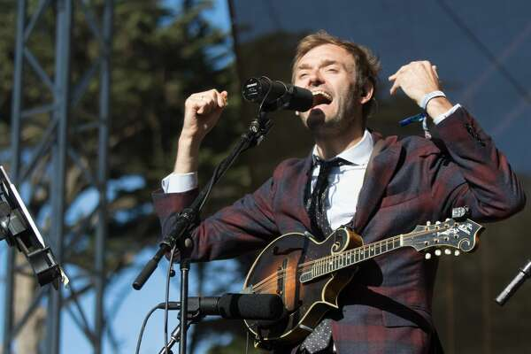 Chris Thile performs on the Towers of Gold Stage at the Hardly Strictly Blues Festival in Golden Gate Park on October 4, 2019.