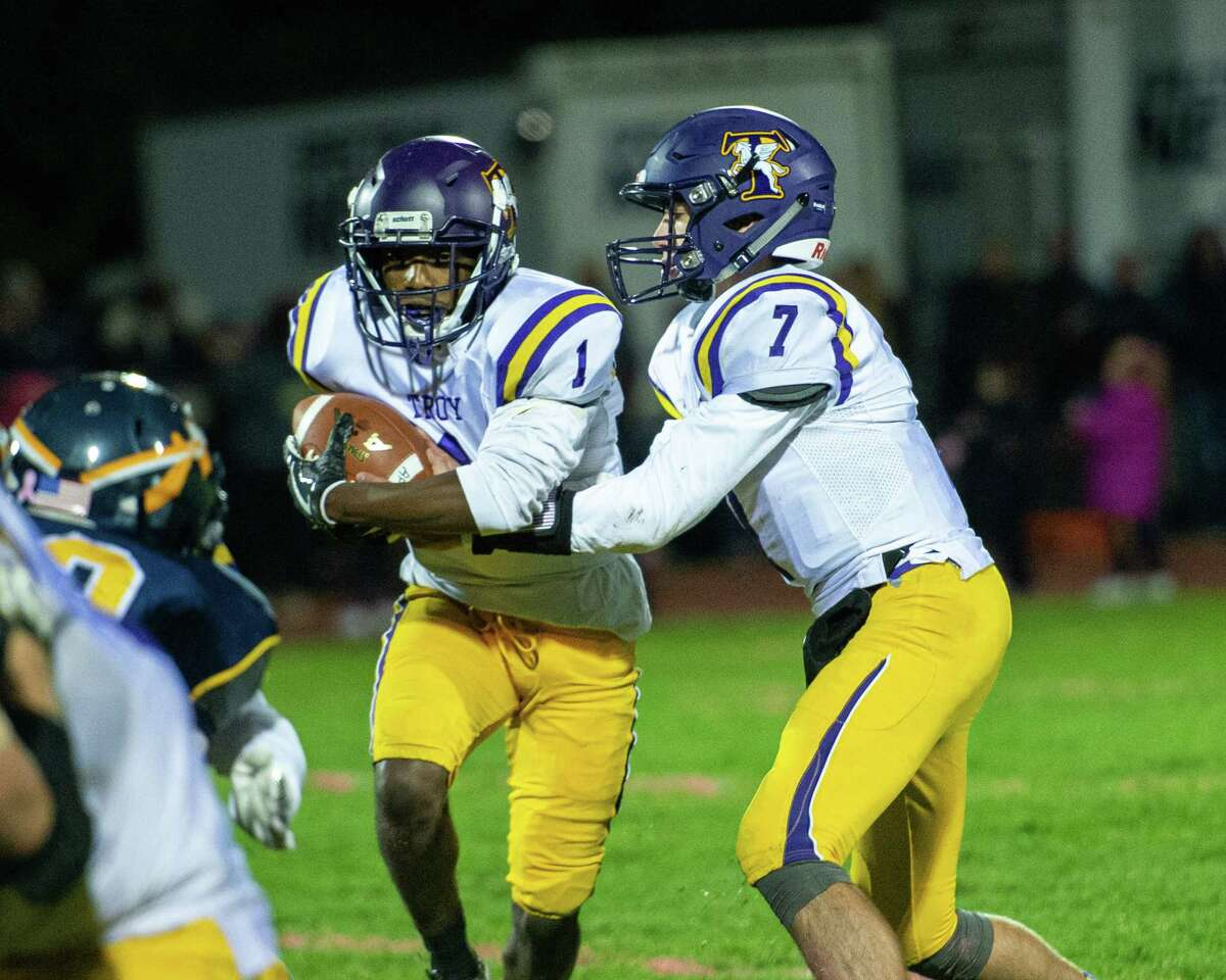 The Troy City School District is moving Friday night's varsity football game against Albany to Saturday afternoon. The decision comes after police raised concerns that spectators at an earlier night game ended up in an off-campus confrontation. The melee happened after a Sept. 27 game between Troy High, avobe, and Albany's Green Tech High Charter School.