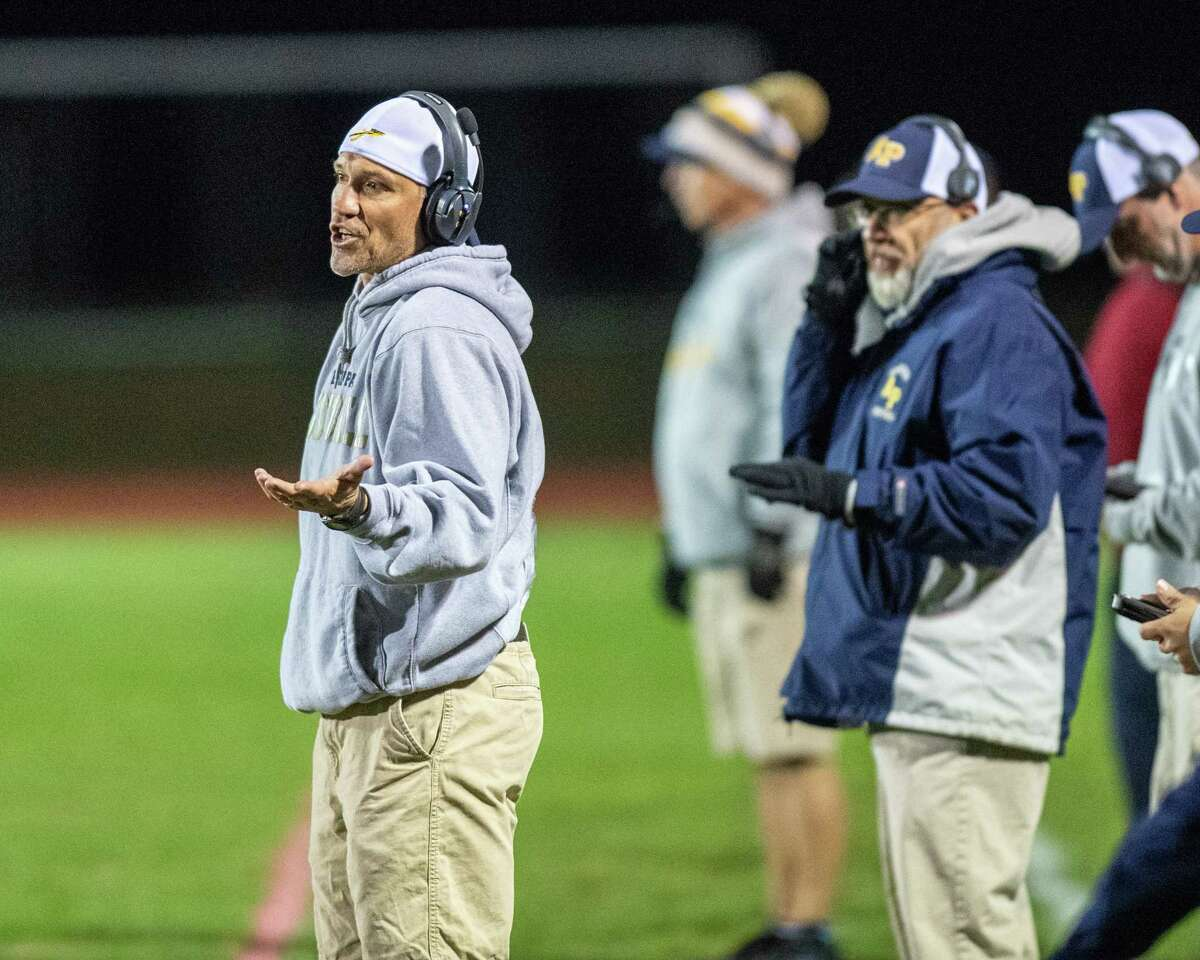 Averill Park football coach Zach Gobel has helped the Warriors top Amsterdam every year since 2016. (Jim Franco/Special to the Times Union)