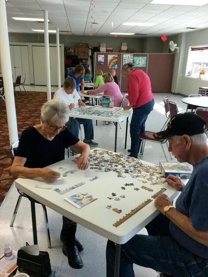 The senior center hosted a pizza and puzzle night last week at the senior center. Just one of the fun activities available at the center. (Courtesy Photo)
