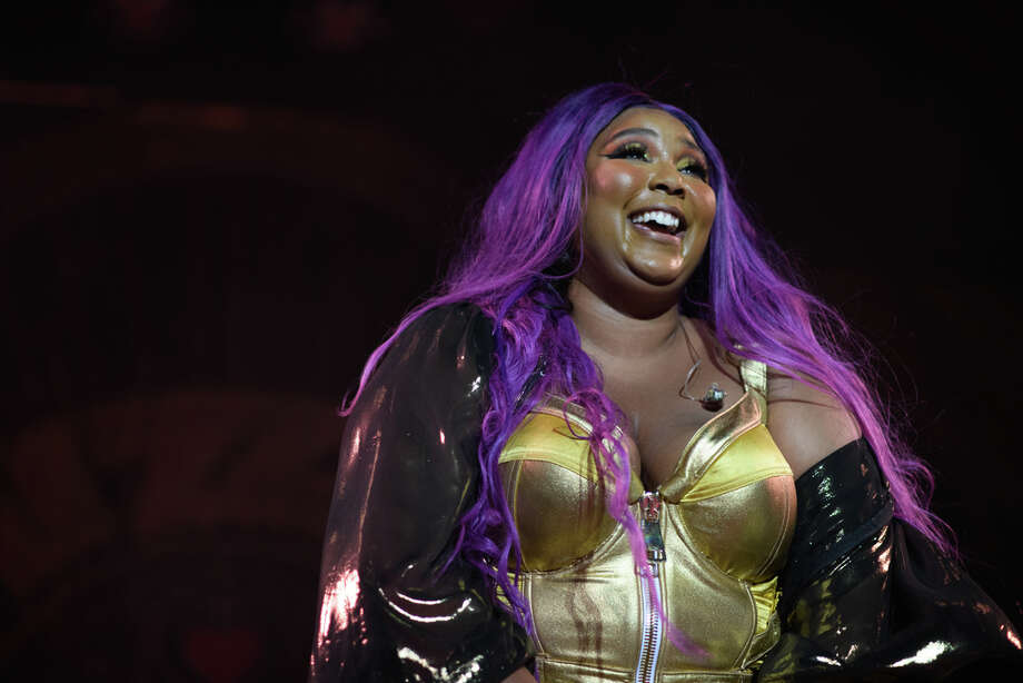 Lizzo performs at Revention Music Center in Downtown Houston on Friday, October 4, 2019 Photo: Jamaal Ellis, For The Houston Chronicle / 2019 Houston Chronicle