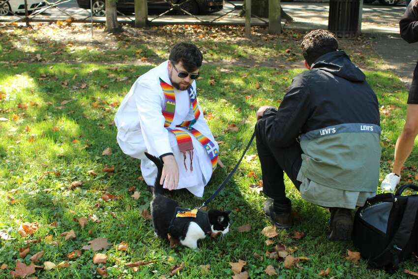 The Episcopal Church of St. Paul and St. James in New Haven held a blessing of the animals on October 5, 2019. Were you and your pets SEEN?