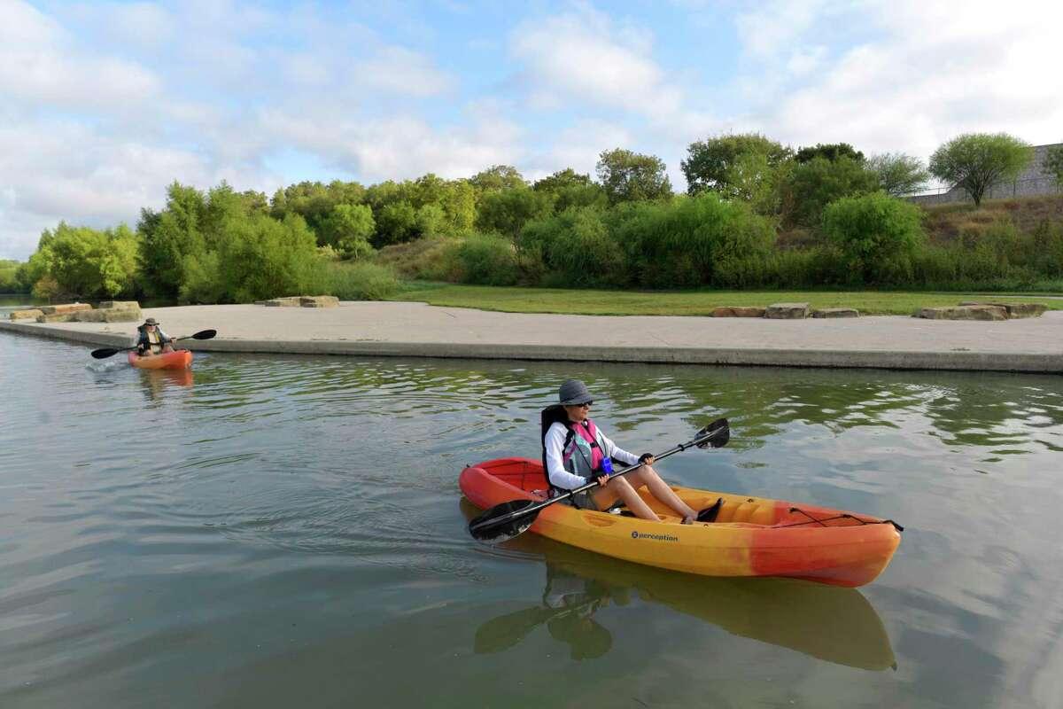 The San Antonio River Walk Mission Reach Paddling Trail is a scenic location. Saturday, Oct. 5, 2019.