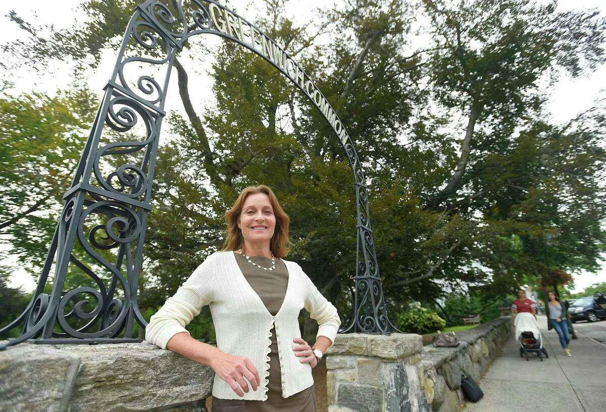Jill Oberlander, Democratic candidate for first selectman, in Greenwich on Sept. 5.